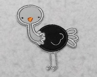 Ostrich - MADE to ORDER - Choose SIZE and Color - Tutu & Shirt Supplies - fabric Iron on Applique Patch 7498