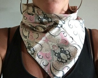 Bandana // Dusted Pink and Grey // Summer // Music Festival // Dust Mask // Handkerchief