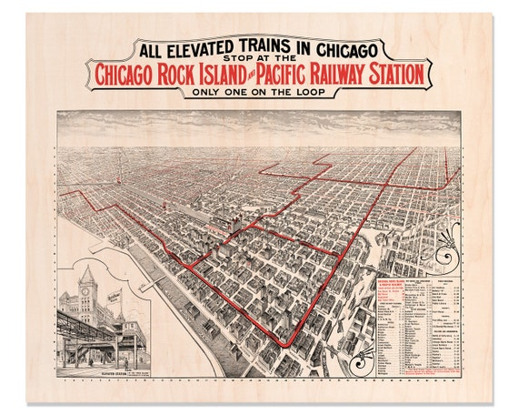 Chicago Rock Island and Pacific Railway Company Map Maple Pacific Railway Company