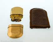 Working Marlboro Brass No.6 Pocket Lighter With Windguard - NOS