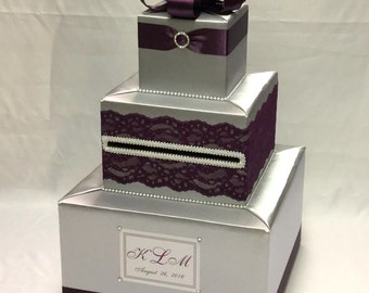 Elegant Custom Made Wedding Card Box-any design/color