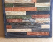 Reserved for Pam-20% OFF SALE - Modern Reclaimed Barnwood Art Wall Sculpture - 12x12