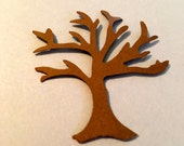 25 Hand Punched BROWN TREE  Die cuts  2 inch for Confetti, Birthday party decorations,Invitations,scrapbooking,