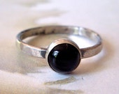 Onyx Ring // Sterling Silver