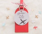I'll Fly Away Leather Luggage Tags