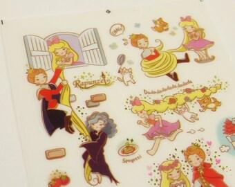Fairy Tale - Translucent Deco Sticker - Funny Sticker World - 1 Sheet