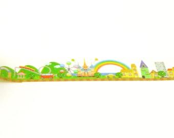 theme park - Japanese Washi Masking Tape - 7.6 yards