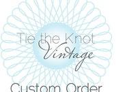 Custom Order for Jean