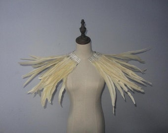 how to make a feather shoulder collar