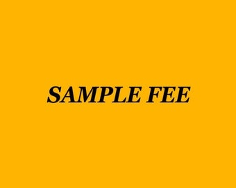 The sample fee  25USD