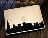 Chicago Skyline Macbook Decal 1 | Macbook Sticker | Laptop Decal | Laptop Sticker | Car Sticker