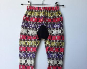 African Wax Print Kids Harem Pants Size Eighteen Months