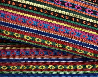 Thai Woven Fabric Tribal Fabric Native Cotton Fabric by the yard Ethnic fabric Craft fabric Craft Supplies Woven Textile 1/2 yard (WF34)