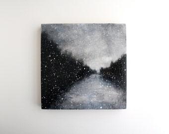 Snowfall Painting - 8 x 8