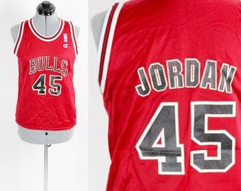 Vintage Champion Chicago Bulls Michael Jordan 45 Jersey