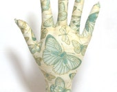 FREE Ship~Antiqued Butterfly Fabric Hand Jewelry Display REGULAR Style HAND-Stand