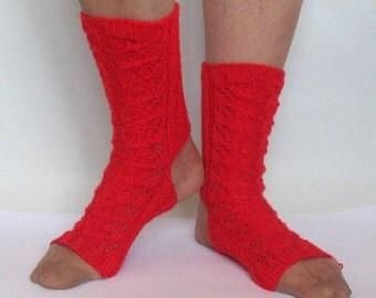 Yoga Socks Dance Pilates Ballet Red Leg Warmers ankle warmers dancer
