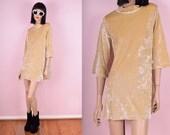 90s Crushed Velvet Glitter Mini Dress