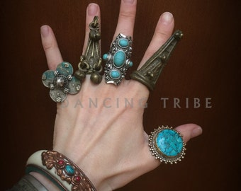 Old Primitive Tribal Ring with Bells Large Tribal Shield Ring Tribal Dangle Ring Banjara Jewelry Gothic Jewelry Ethnic Jewelry Gypsy Warrior
