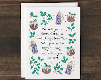 Funny Christmas Card Figgy Pudding