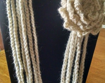 Crocheted Woman's Infinity Scarf