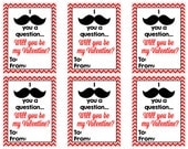 Personalized Mustache Valentines Cards Print Your Own