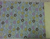 Coffee and Donuts flannel pillowcase with cotton trim. Ready to ship. Only 1.