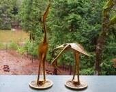 Vintage Brass Storks