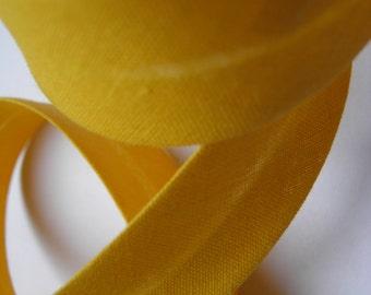3m Biais coton replié – jaune (col 685)