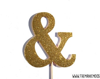 Wedding Props ~ Photo Booth Props ~ Ampersand Sign  ~ You Choose Glitter Color
