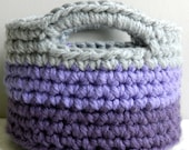 SALE PRICE! Color Me Purple!  Mini Crocheted Storage Basket