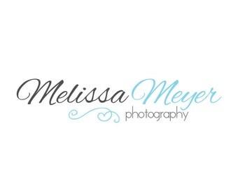 Photography Logo and Watermark, Premade Customizable Script Heart Logo Design
