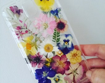 Pressed Wild Flower phone case