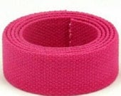 Hot Pink Cotton Webbing - 5 yards of 1.25 inch (32mm) cotton webbing - Hot Pink
