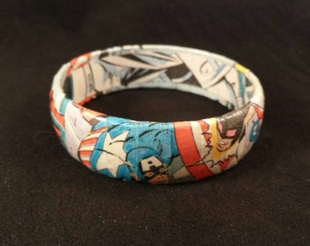 Captain America Comic Book Bracelet