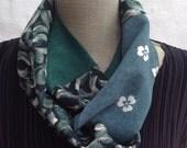 Vintage Kimono silk infinity scarf. FREE SHIPPING