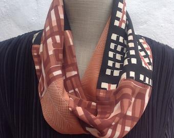 Vintage kimono silk infinity scarf FREE SHIPPING