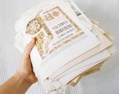 Huge 2 kg Paper Ephemera Paper Pack Vintage Encyclopedia Pages Color and Black and White