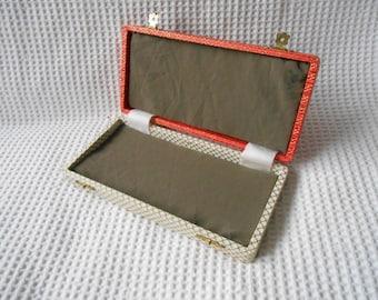 Vintage Box Retro Storage Gift Box Pretty Hinged Bright Colour