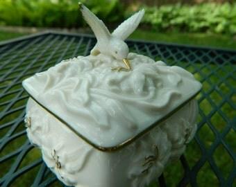 Vintage Lenox Collectible Hummingbird Keepsake Box