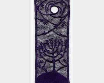 Menorah Tree Bookmark Lace