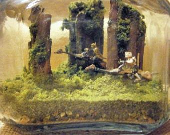 Star Wars Return of the Jedi Themed Terrarium Diorama - Speeder Chase on Endor