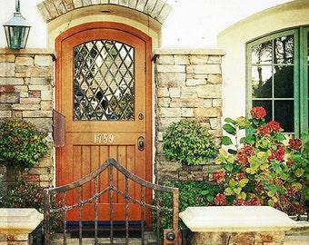Door Photography- Cottage Door Photography, Warm Tones Art, Euro Style Door Photo, Rustic Decor, Cottage Home Decor, Dutch Door Print,