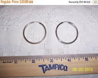 20 OFF EVERYTHING Vintage Hoop Earrings. Sterling silver.