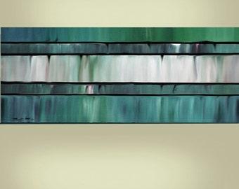 Very Large 24X60 Original Abstract Painting Ready to Hang Art  By Thomas John