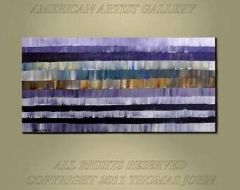 ORIGINAL ABSTRACT Painting Large 24 x 48 Impasto Ready to Hang Art and Collectibles By Thomas John