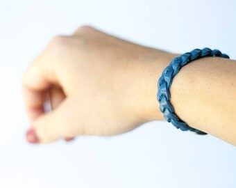 Braided Leather Bracelet / Singing the Blues
