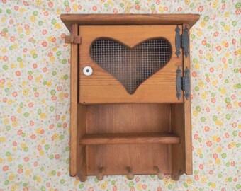Vintage Decorative Wooden Cubby Shelf