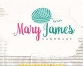 Yarn Logo Design, Knitting Shop Logo Branding, Yarn Logo Premade, Crochet Logo Design
