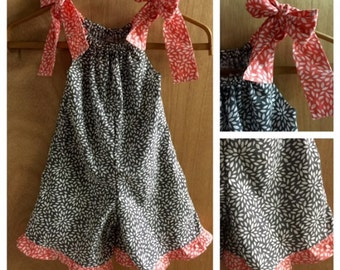 Pillowcase Shorts Romper, size 3t